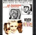 O.S.T. / Bandes Originales des Films de Claude Lelouch Musiques de Francis Lai : Vivre Pour Vivre / Un Homme et Une Femme  【CD】 FRANCE DISC AZ ORG.